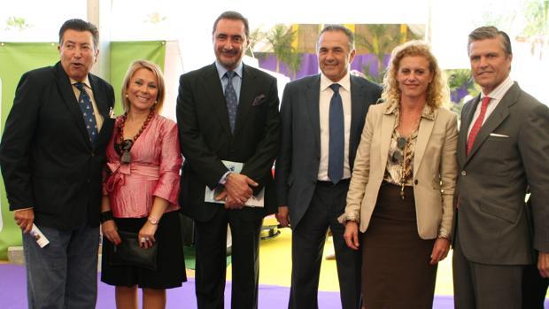 Carlos Herrera y Espartaco fueron padrinos de Floraurbana en 2011, cuando se celebró en Espartinas