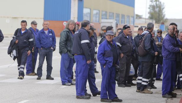 Trabajadores de Navantia Puerto Real