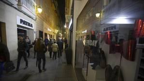 Breve huelga preventiva de escaparates caídos por la iluminación navideña