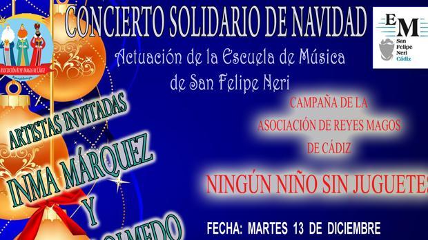 Concierto benéfico en Cádiz para la campaña 'Ningún niño sin juguete'