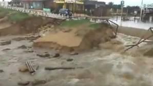 Vídeo: La tromba de agua destroza la playa de El Palmar