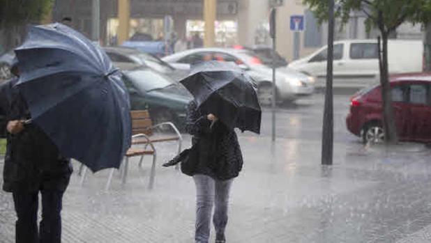 Las intensas lluvias mantienen activa la alerta amarilla en la provincia de Cádiz