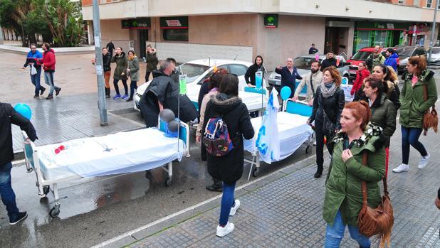Protesta en Cádiz de los trabajadores de Pascual