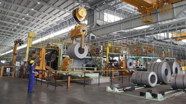 Vista interior de la planta de Acerinox en Los Barrios