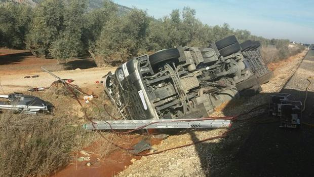 La muerte del camionero ha tenido lugar en el kilómetro 120 de la A-92 en sentido Málaga