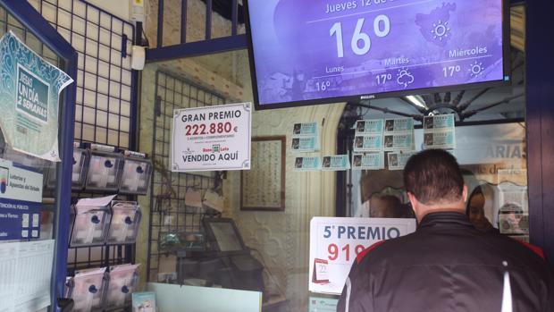 Un único acertante de 2ª categoría, en Cádiz, gana 222.880 euros en la Bonoloto