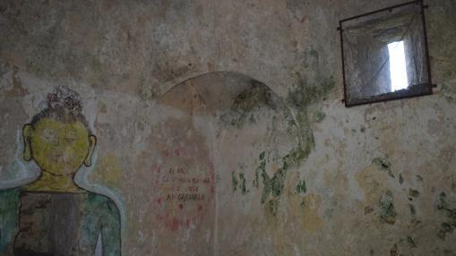 Pintadas en una de las capillas.