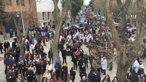 Llegada de la marcha a la Plaza de España