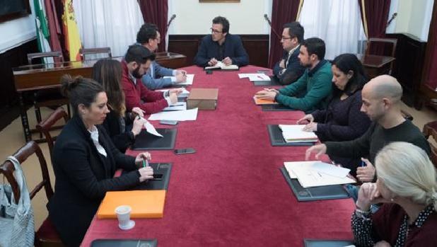 Última comisión de control sobre limpieza celebrada en el Ayuntamiento.