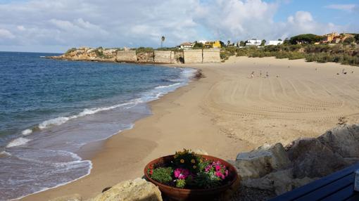 Playa de La Muralla, en El Puerto