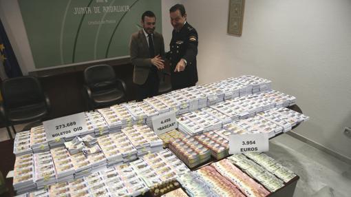La intervención policial del pasado viernes 31 de marzo decomisó boletos por valor de 350.000 euros.