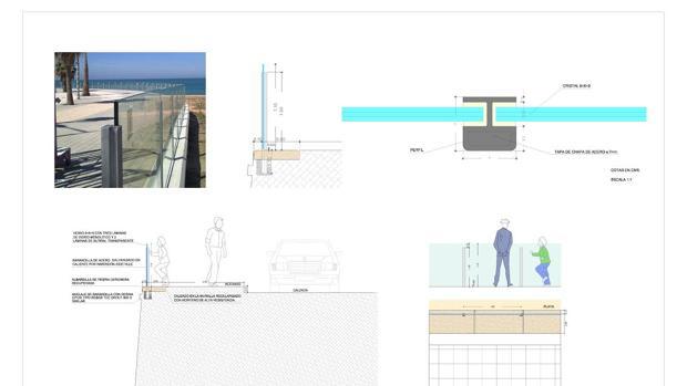 El Ayuntamiento instalará una barandilla de seguridad en dos tramos del Paseo Marítimo
