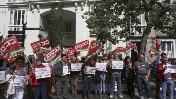 Protesta de los profesores interinos de conservatorio.