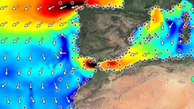 Temporal de viento en el Golfo de Cádiz