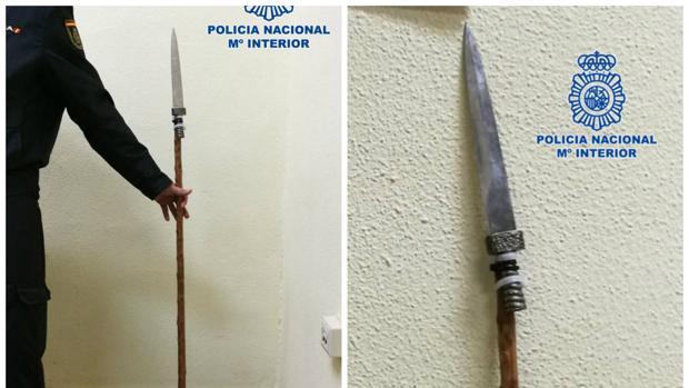 Detenido en Jerez por atacar con una 'lanza' artesanal al empleado de un bar