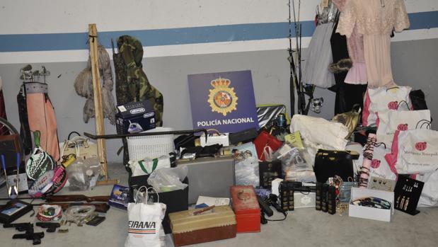 artculos robados por el presunto ladrn