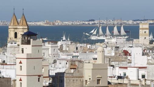 Vistas de Cádiz desde la Torre del Reloj de la Catedral