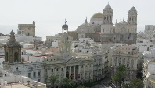 Una estampa del centro de Cádiz desde el edificio Fénix