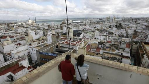 Los tejados de Cádiz, desde la Torre Tavira