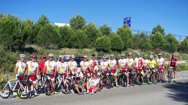 Miembros del Club Ciclista de El Puerto.