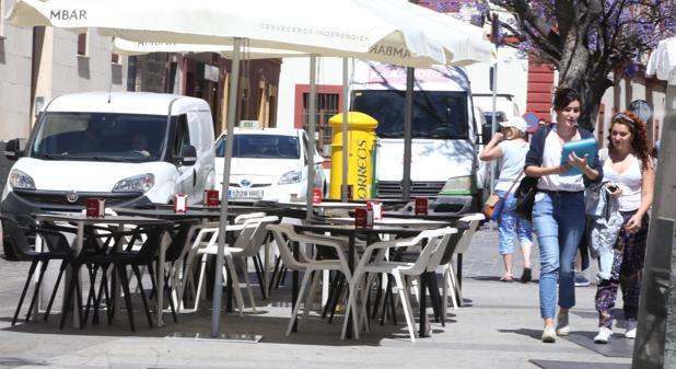Terrazas en la Plaza del Mentidero