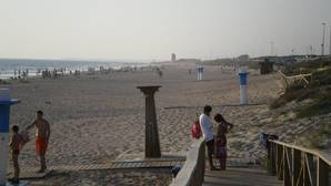Imagen de la playa de El Palmar donde se ha producido el suceso