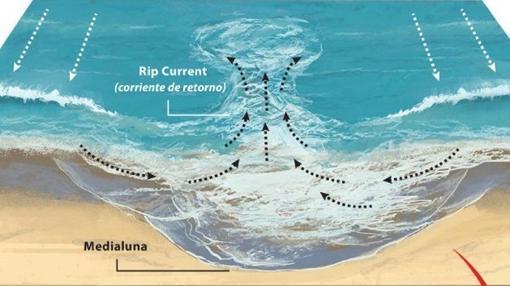 Imagen que reproduce las canaletas perpendiculares de agua.