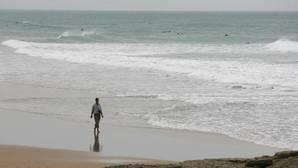 Imagen de archivo de un día de oleaje en el Palmar