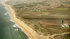 Vista aérea de la playa del Palmar