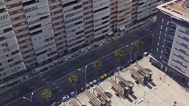 Avenida José León de Carranza en Cádiz