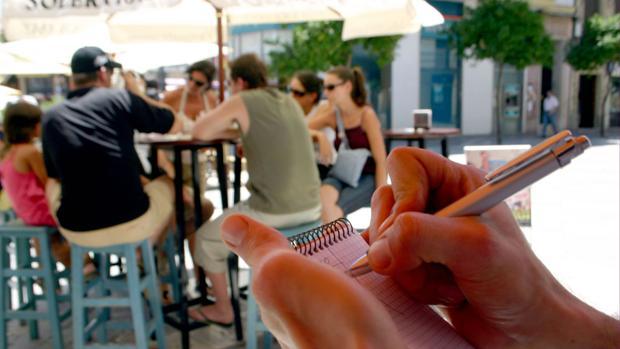 Terraza de un bar en Cádiz