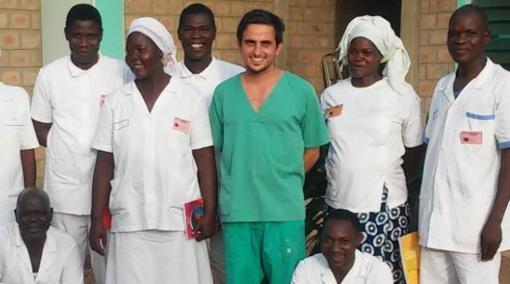 El doctor García Lanzas, en Chad.