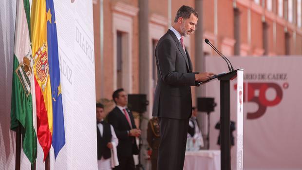 El Rey en su visita a Cádiz
