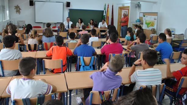 Niños en un aula de la provincia.