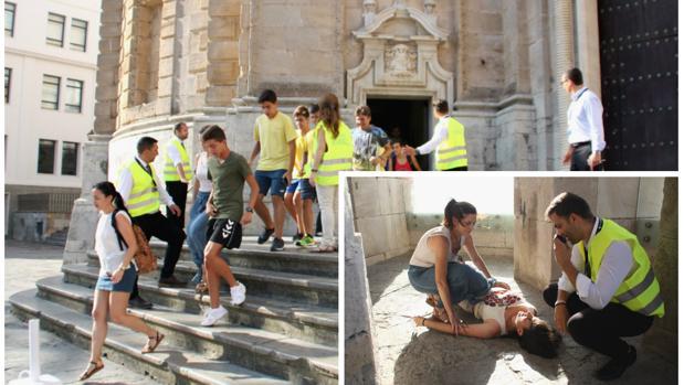 Simulacro de evacuación en la Catedral