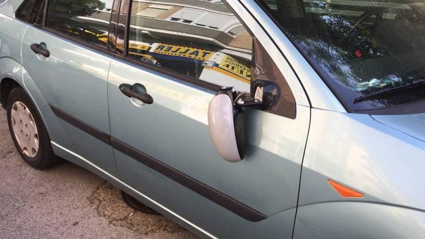 Uno de los vehículos que ha sido víctima del vándalo de Brunete