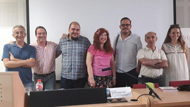 Los ponentes Jesús Romero, Javier Osuna, José Manuel López, Desirée Ortega, Moisés Camacho, Juan Antonio Vila y Cristina Diez