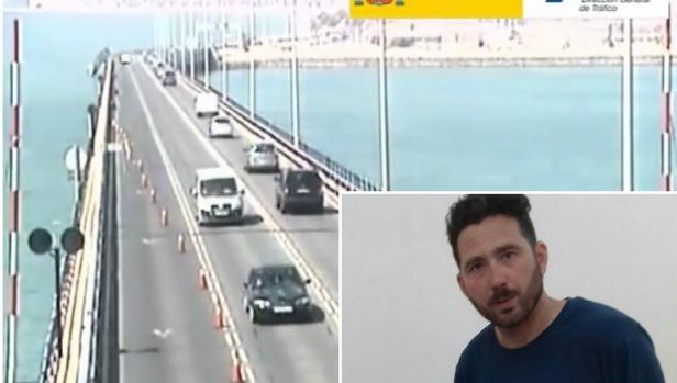 Javier, el conductor del camión que se precipitó desde el puente.