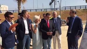 El ministro de Fomento, Iñigo de la Serna, esta mañana en Cádiz