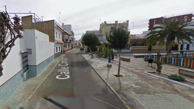 Un tramo de la calle Campanilla en Chipiona