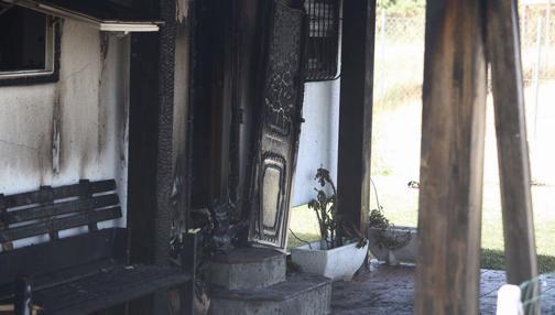 Estado de la vivienda tras el fuego