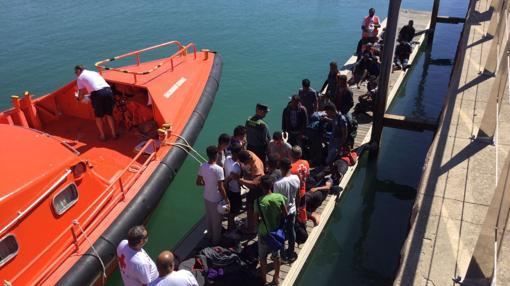Llegada de los migrantes a Puerto América