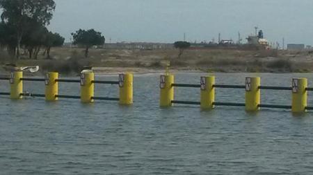 Las barreras en el Guadarranque es otra de las barreras para luchar contra el narcotráfico