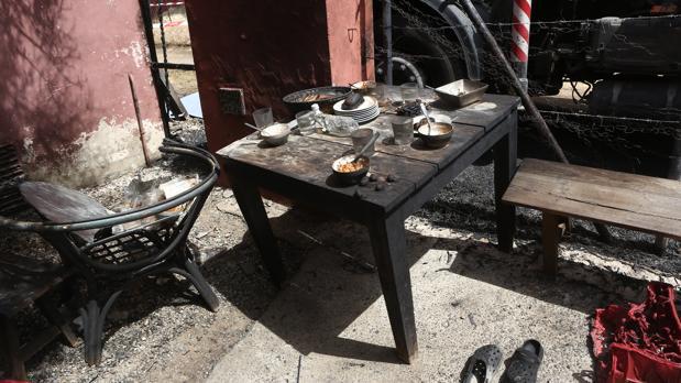 Estado en el que quedaron las instalaciones del hotel tras la deflagración.