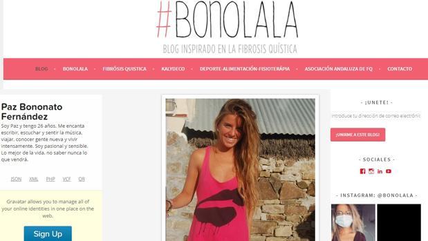 Blog de Paz Bononato sobre sus experiencias con la enfermedad