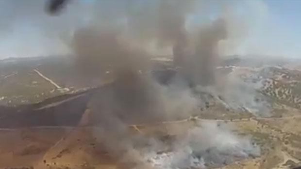 El incendio en el paraje El Peralejo está controlado a expensas de su extinción definitiva