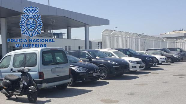 Imagen de los vehículos localizados