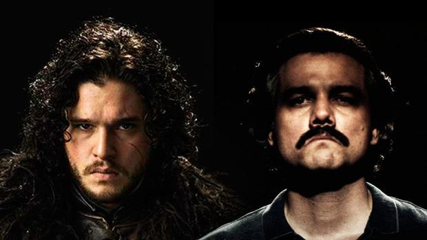 John Snow (i) y Pablo Escobar (d), las caras más conocidas de HBO y Netflix.