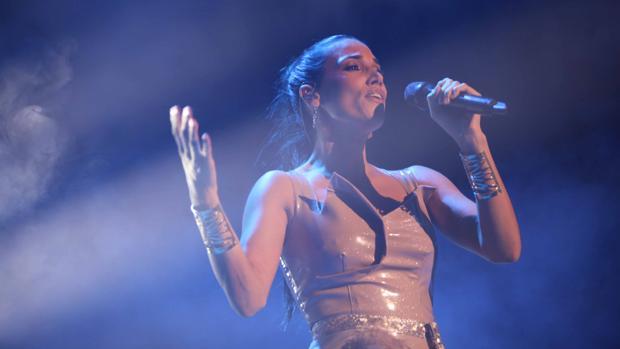 La cantante India Martínez, en uno de sus conciertos