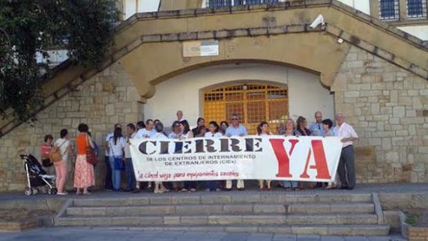 Una protesta por el cierre del CIE de Algeciras